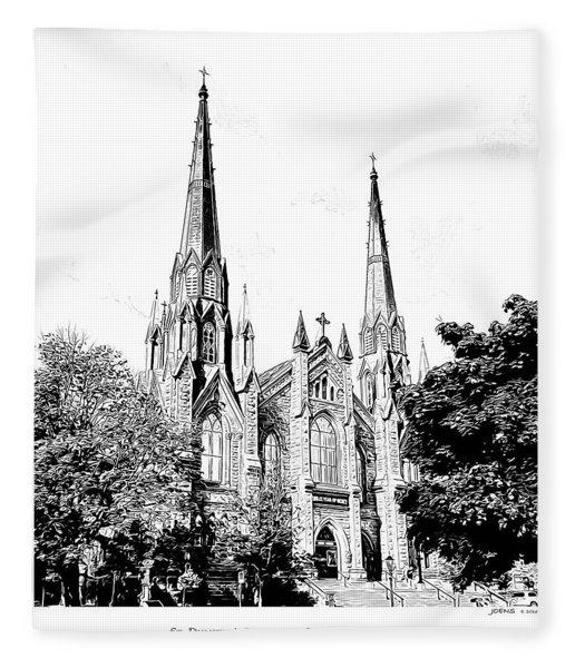 St Dunstans Basilica Fleece Blanket