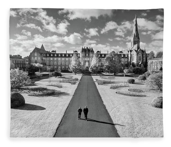 Fleece Blanket featuring the photograph St Joseph's Square At Maynooth University - Kildare, Ireland by Barry O Carroll