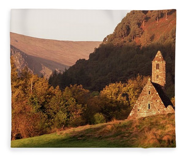 Fleece Blanket featuring the photograph Morning At Glendalough, County Wicklow - Ireland by Barry O Carroll