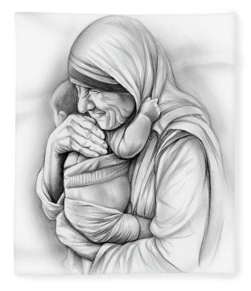 St Mother Teresa Fleece Blanket