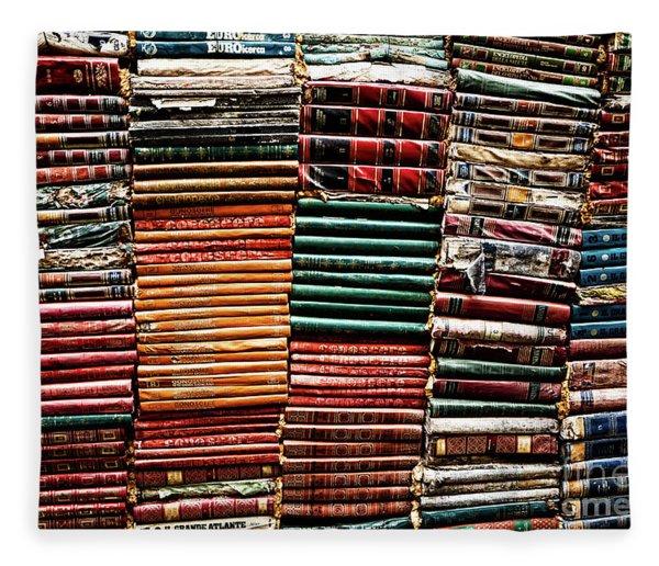 Stacks Of Books Fleece Blanket