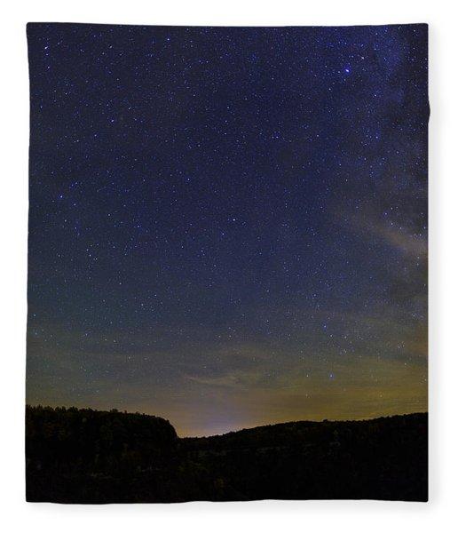 Stars Over Letchworth Fleece Blanket
