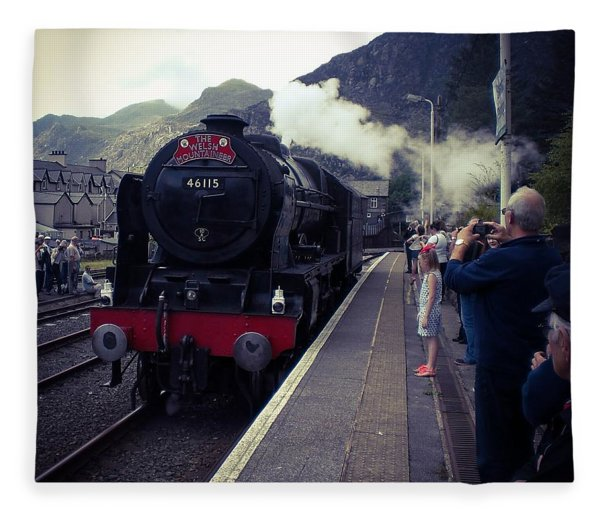 Steam Train, Ffestiniog, North Wales Fleece Blanket