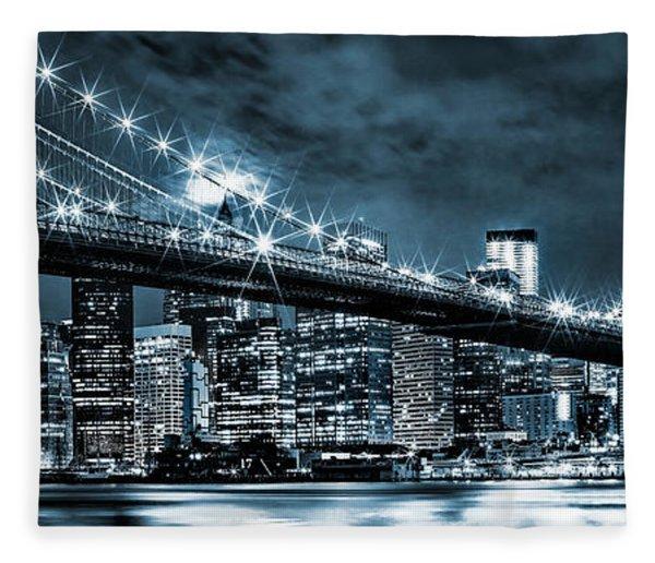 Steely Skyline Fleece Blanket
