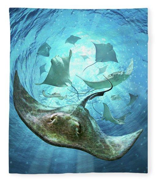 Sting Rays Fleece Blanket