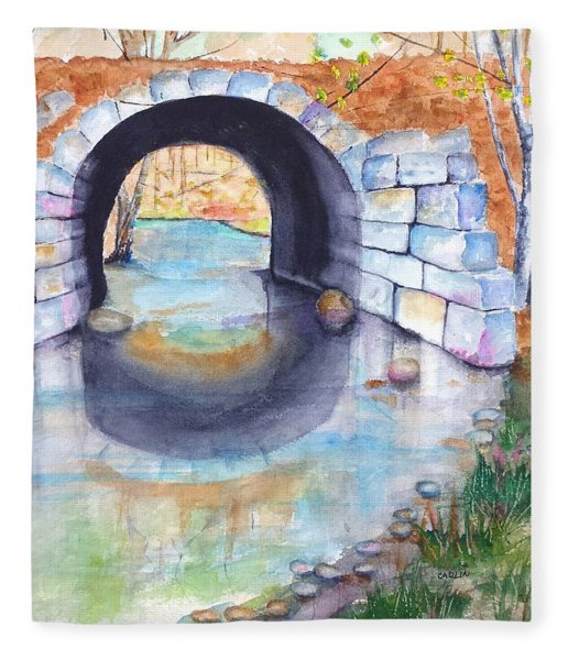 Stone Arch Bridge Dunstable Fleece Blanket