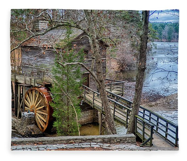 Fleece Blanket featuring the photograph Stone Mountain Park In Atlanta Georgia by Alex Grichenko