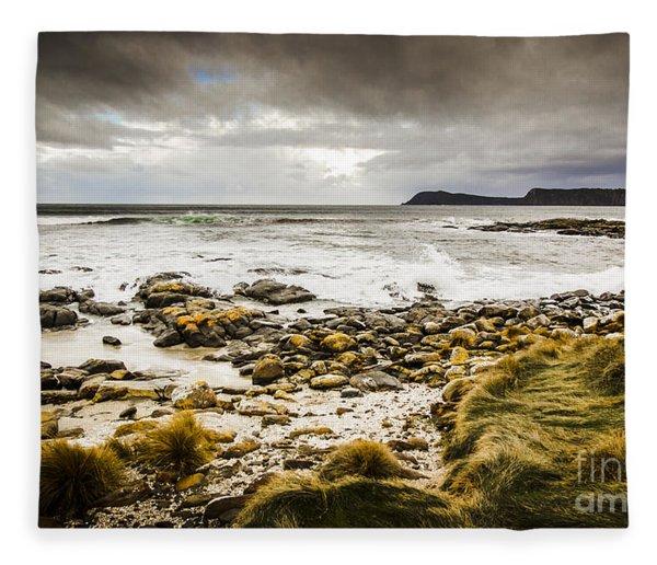 Storm Clouds Over Cloudy Bay Fleece Blanket