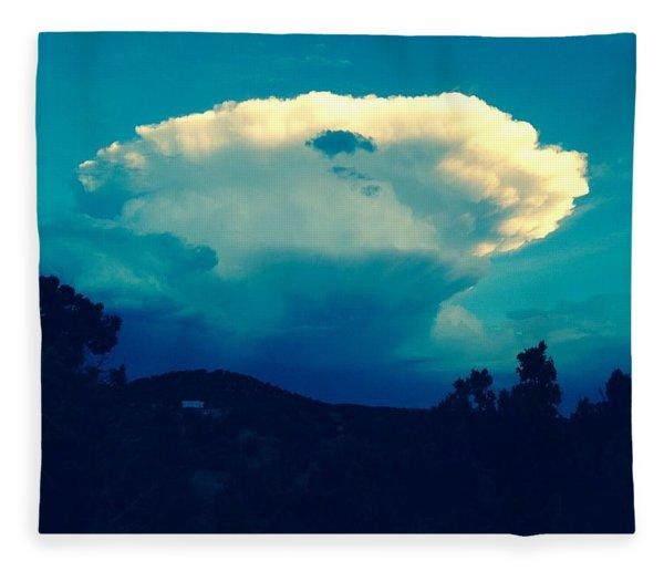 Storm Over Santa Fe Fleece Blanket