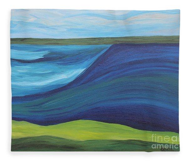 Stormy Lake Fleece Blanket