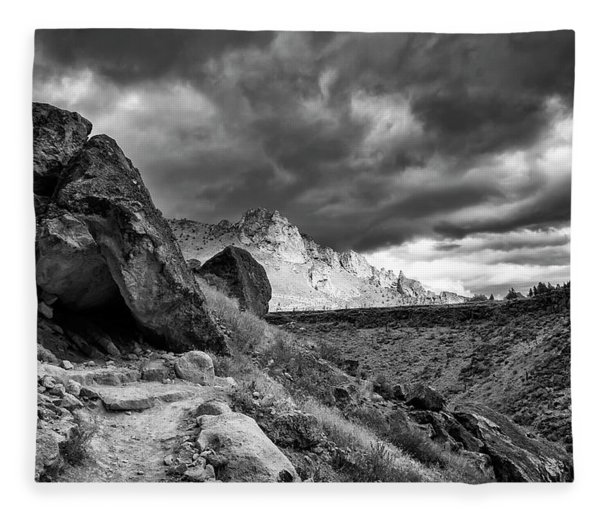 Stormy Misery Ridge  Fleece Blanket