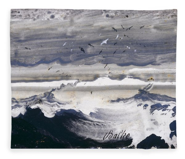 Stormy Sea Fleece Blanket