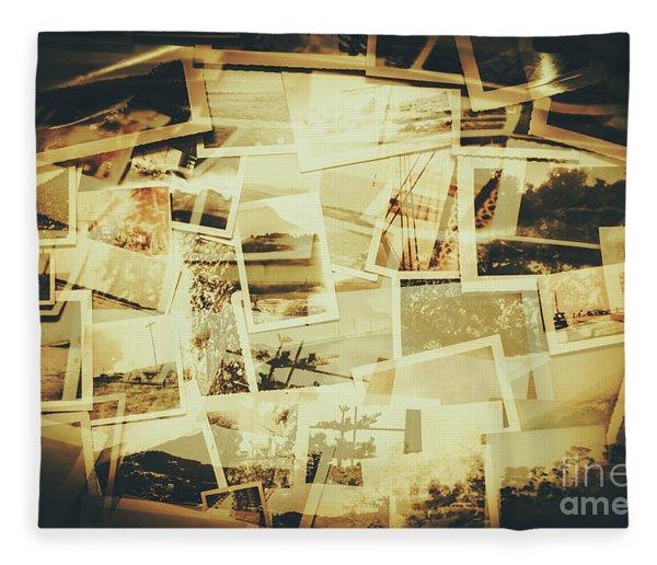 Storyboard Of Past Memories Fleece Blanket