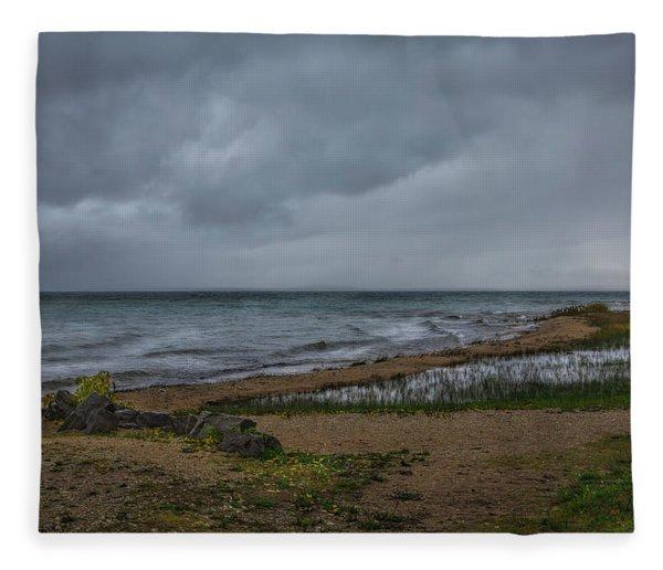 Straits Of Mackinac Fleece Blanket