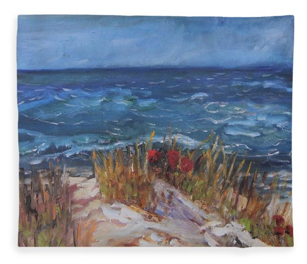 Strangers On The Shore Fleece Blanket