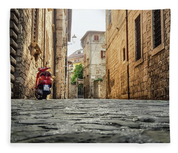 Streets Of Italy Fleece Blanket
