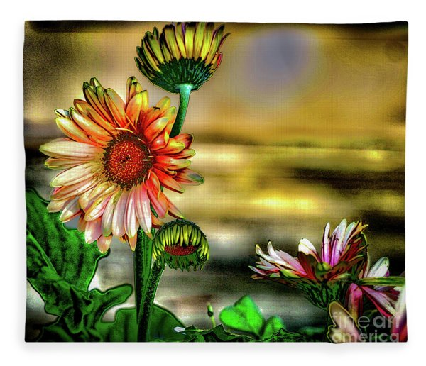 Summer Daisy Fleece Blanket
