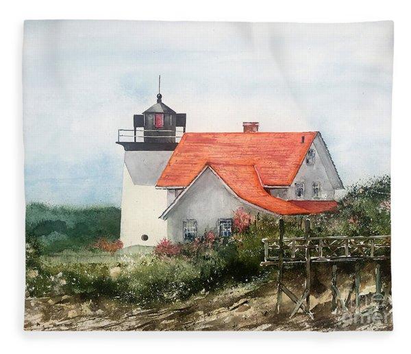 Summer In Maine Fleece Blanket