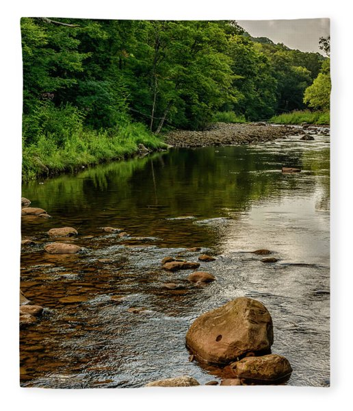 Summer Morning Williams River Fleece Blanket