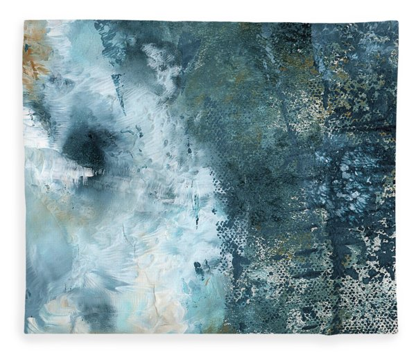 Summer Storm- Abstract Art By Linda Woods Fleece Blanket