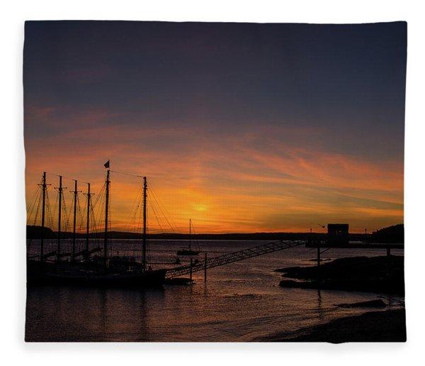 Summer Sunrise In Bar Harbor Fleece Blanket