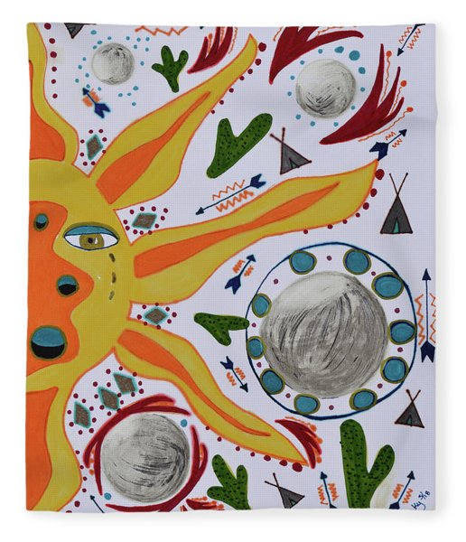 Sun And Moons Fleece Blanket