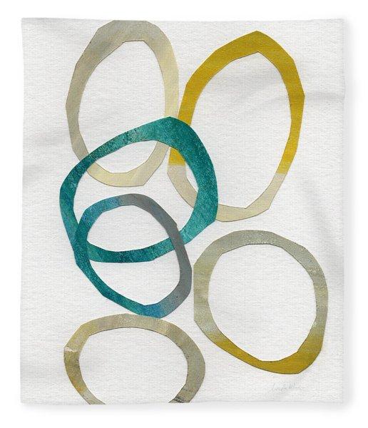 Sun And Sky- Abstract Art Fleece Blanket