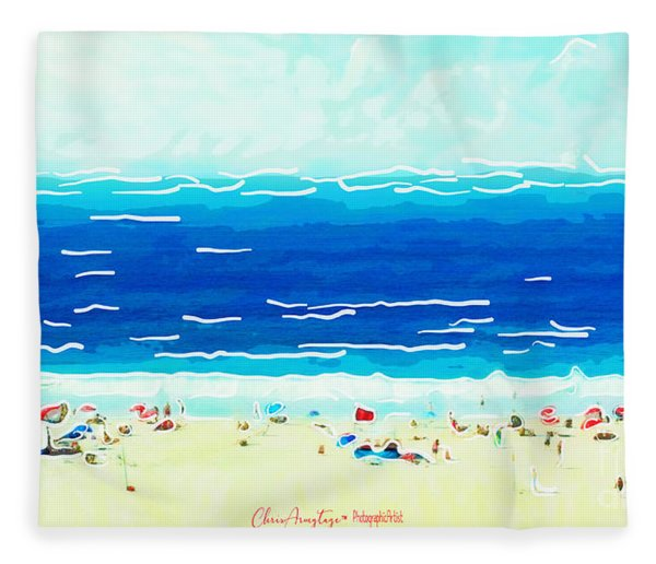 Sunday At Bondi Fleece Blanket