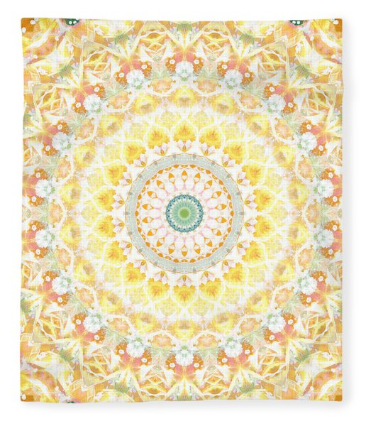 Sunflower Mandala- Abstract Art By Linda Woods Fleece Blanket