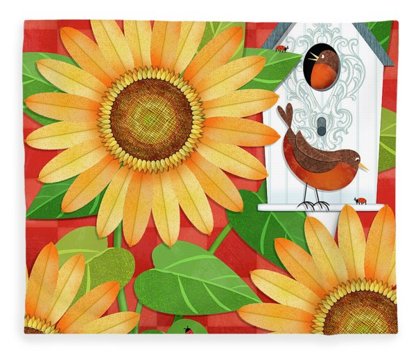 Sunflower Surprise Fleece Blanket