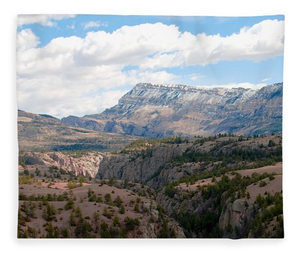 Sunlight Creek Of Wy Fleece Blanket