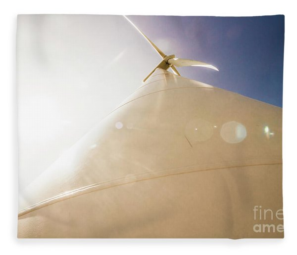 Sunlit Wind Power Fleece Blanket