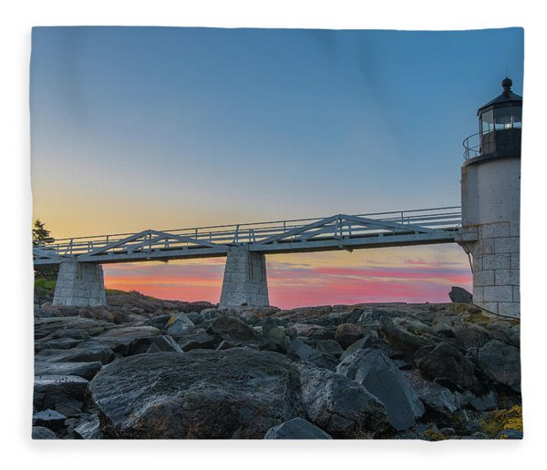 Sunrise At Marshall Point Fleece Blanket