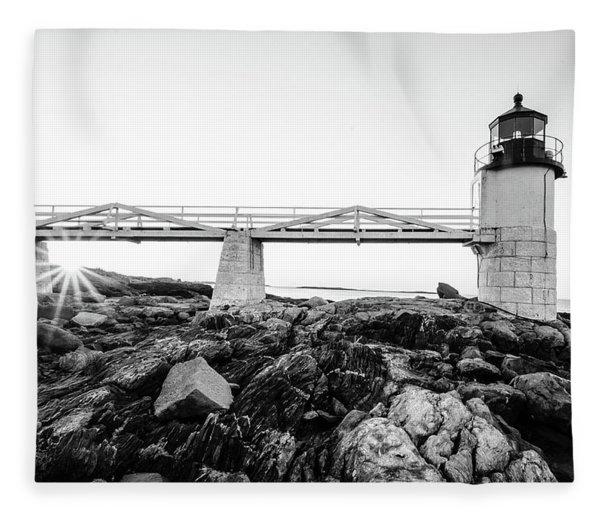 Marshall Point Lighthouse Shoreline Fleece Blanket