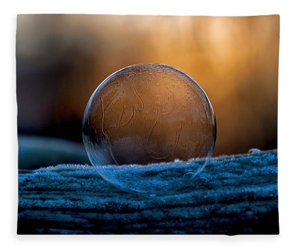 Sunrise Capture In Bubble Fleece Blanket