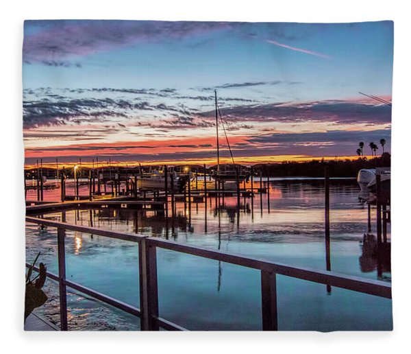 Sunrise Christmas Morning Fleece Blanket