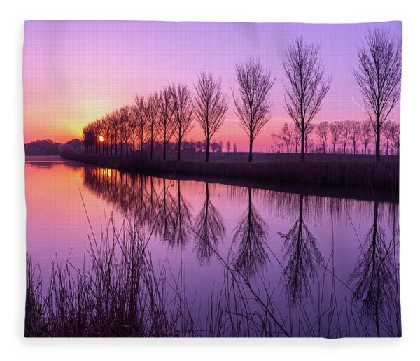 Sunrise In Holland Fleece Blanket