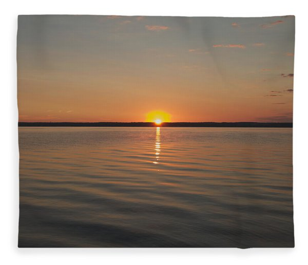 Sunrise On Seneca Lake Fleece Blanket