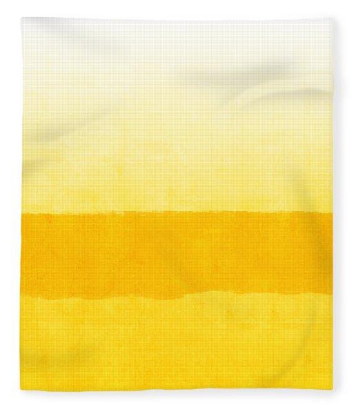 Sunrise- Yellow Abstract Art By Linda Woods Fleece Blanket