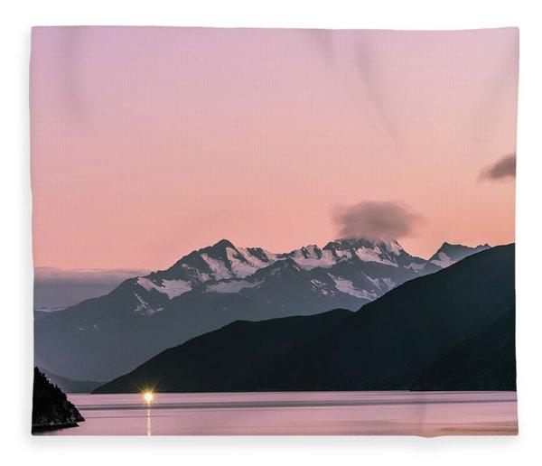 Sunset In Alaska Fleece Blanket