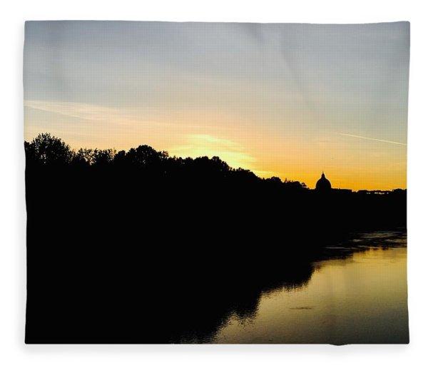 Sunset In Rome Fleece Blanket
