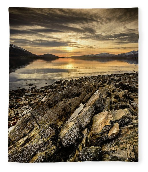 Sunset, Loch Lochy Fleece Blanket