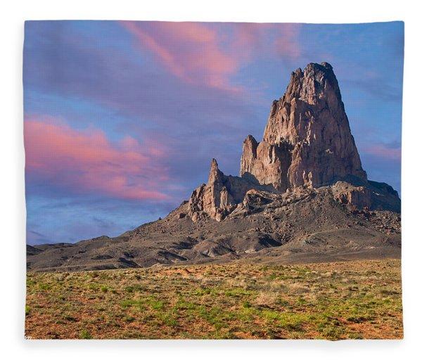 Sunset On Agathla Peak Fleece Blanket