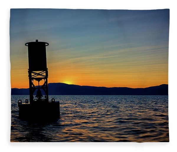 Sunset On Penobscot Bay Fleece Blanket