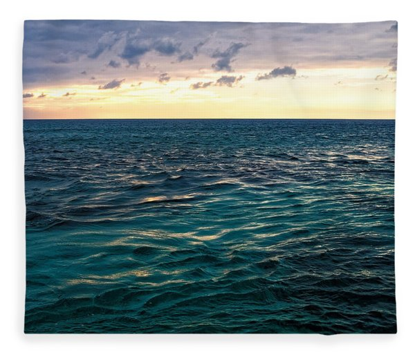 Sunset On The Caribbean Fleece Blanket