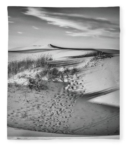 Sunset On The Dunes Fleece Blanket