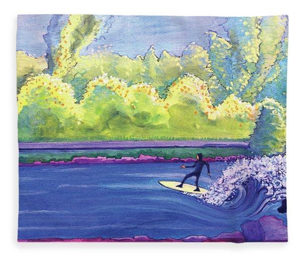 Surf Colorado Fleece Blanket