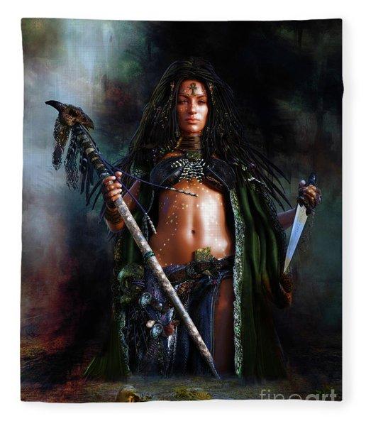 Swamp Witch Fleece Blanket