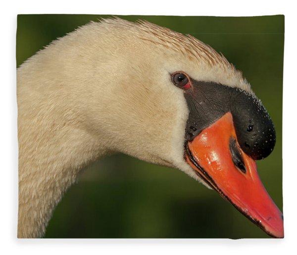 Swan Headshot Fleece Blanket