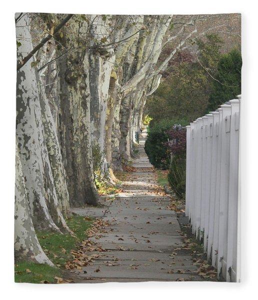 Sycamore Walk Fleece Blanket